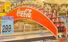 Coca-Cola fém display